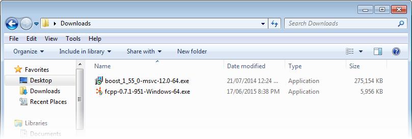 FC++: Visual Studio Project Example