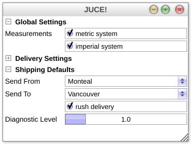 JUCE: juce::PropertyPanel Class Reference