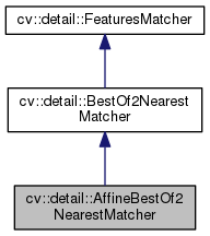 OpenCV: cv::detail::AffineBestOf2NearestMatcher Class Reference
